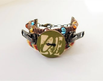 Steampunk Love Boho Bracelet