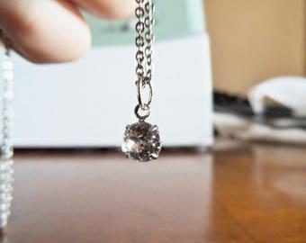 swarovski crystal necklaces in silver