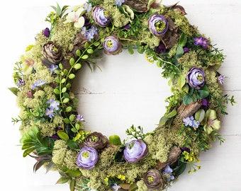 Summer wreath, front door wreaths, outdoor wreath, housewarming gift
