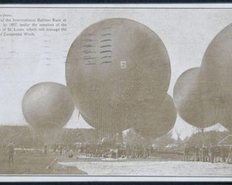 International Balloon Race at St. Louis in 1907, Stamped and Post Marked 1909.