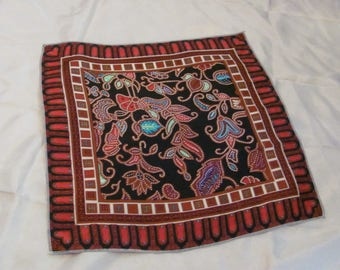 "Vintage Colorful Small Silk Pocket Square Scarf - 13"" Inch"