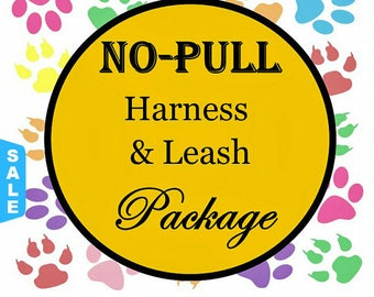 Sale - 50% Off No Pull Harness & Leash Package - Dog Harness Set - Available in all Dog Collar Listings - Fabric name