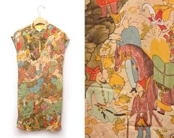 90s Asian Qipao Dress Womens 8 Medium Dorothy Schoelen Platinum