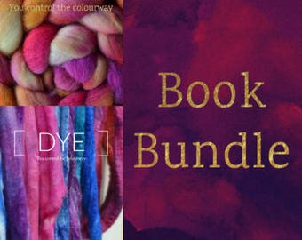 DYE and ROVING Spinning Books Bundle - Roving (Combed Top) + Dyeing Spinning Fiber (Handpainted & Kettle) Tutorial - Handspinning Pattern