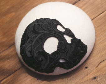White and Black skull Smartie Hat