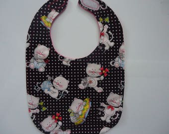 Whimiscal Kitten and Mice Bib.  Ready to ship