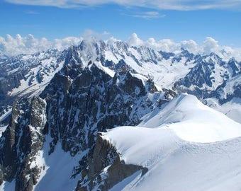 Chamonix France Mont Blanc Print