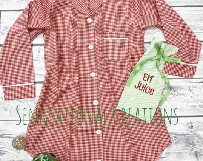 LIMITED EDITION- Red Gingham Sleep Shirt