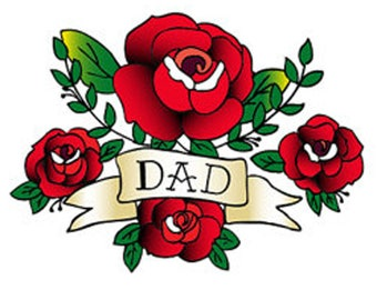 Mom and Dad Temporary Tattoos - Fathers Day Temporary Tattoo - Dad Temporary Tattoo - Father Son Gift - Fathers Day Gift Temporary Tattoo