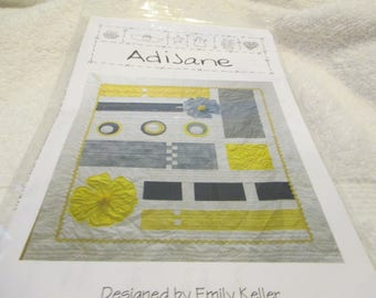 """Paper Pattern for a quilt called AdiJane designed by Emily Keller for Quilt Country 88"""" x 96"""""""