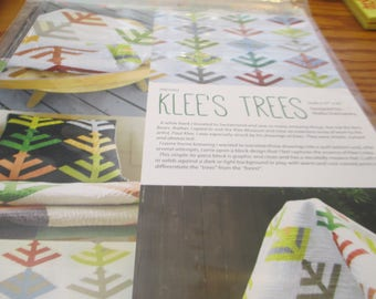 """Paper Pattern for a quilt called Klee's Trees designed by Malka Dubrawsky 47"""" x 42"""""""