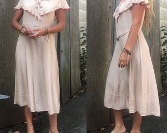 Pink 1920s day dress