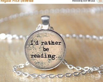 SUMMER SALE Reader Necklace - Library Book Necklace - Librarian Pendant - Gifts for Readers - Book Necklace - Reading Pendant - Literacy Jew