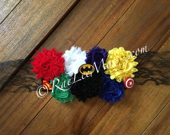 Super hero Baby Shower belly sash /Mommy-To-Be corsage/Super hero Theme party/Baby Shower corsage/superhero baby shower/superman/batm