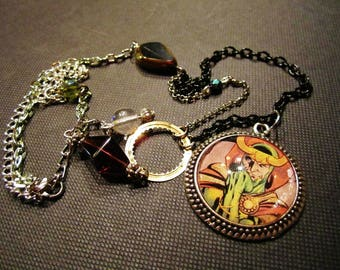 Necklaces super heroes and villains loki and iron man.