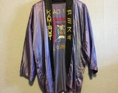 Vintage Shriner,Mason Japan Silk Smoking Jacket ~ Torii Oasis ~ Kamisugi ~ Shrine Clubs of Japan