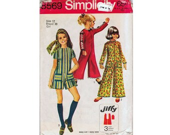 Simplicity 8569 Child's and Girls' Jiffy Jumpsuit in Two Lengths Sewing Pattern UNCUT