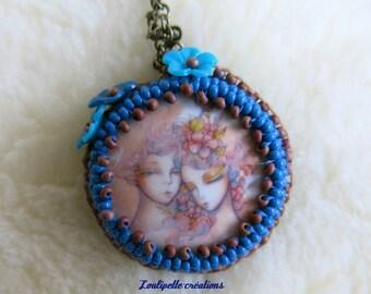 Necklace romantic beadwork (lovers)