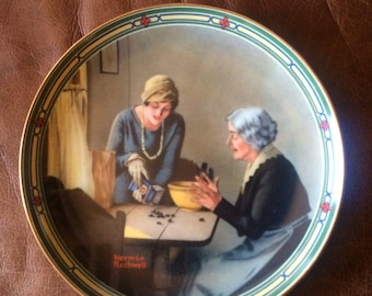 Norman Rockwell Plate A Family's Full Measure
