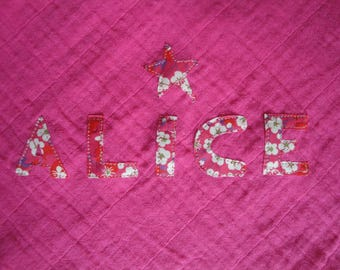 Custom length / letters in Liberty fabric