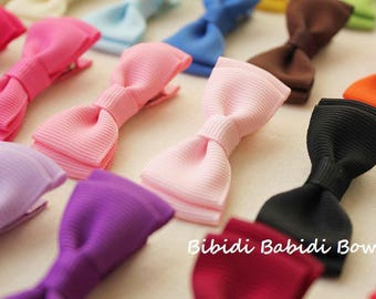 Mini tuxedo bows - set of 18-  girls hair accessories -  Birthday gift - 1.00 hair bows -infant hair bows - You can choose colors