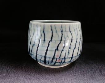 ChingWenArts porcelain Japanese Tea Bowl chawan,yunomi,sake cup,bourbon bowl,# E243