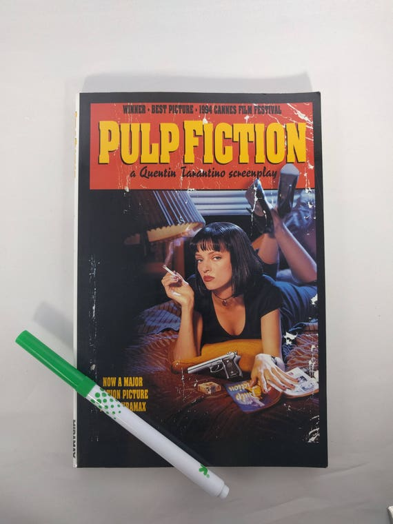 PULP FICTION Screenplay, First Edition! Like new, copyright 1994 by Quentin Tarantino, Miramax Pictures, Hyperion Books Paperback
