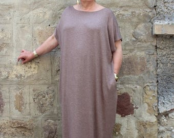 SALE ON 20 % OFF Mocha Plus size Dress , Plus size Maxi Dress , Caftan Dress , Plus size clothing , Kaftan , Abaya, Summer Dress,Sizes 1X th