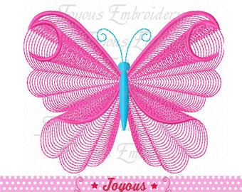 Instant Download Butterfly Plain Stitch Machine Embroidery Design NO:2393