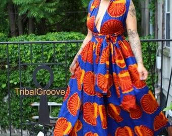 MIA - African Print Maxi Infinity Dress