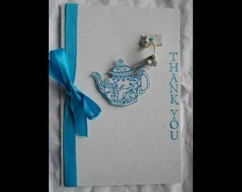Turquoise Teapot Thank You Card