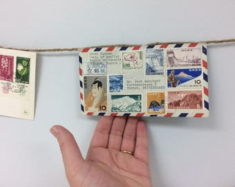 Travel Banner, Mail Banner, Travel, Vintage Envelopes, Air Mail, Post Office, Postal, Par Avion, Travel Decor, Pen Pail, Letter Writing