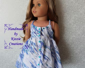18 inch Doll Dress, Kizzie Creations, 18 inch Summer Doll Dress, Doll Couture, Doll Clothes
