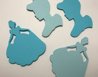 40 Cinderella Cut Outs for Wall Art Decoration Accessories Party Favor Party Supply Craft for Girl Party