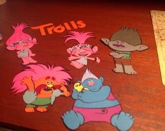 Trolls Cricut Die Cuts