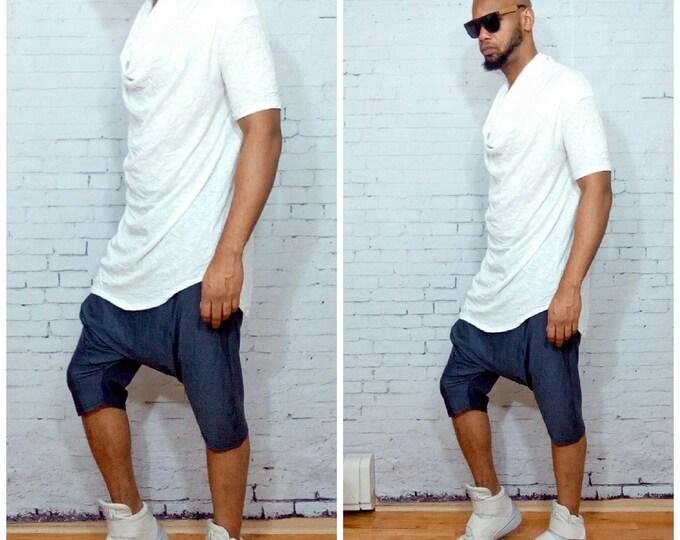 Cowlneck Funnel Neck Tshirt tee shirt mens drape front shirt justin bieber kanye west rick owens westwood inspired