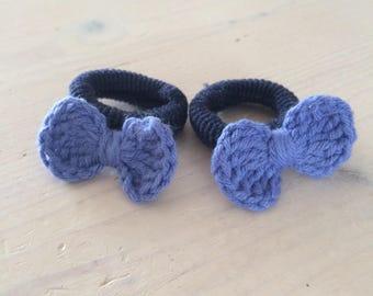 Hairclip bow crochet baby toddler little girl