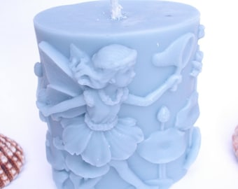Candle 3D oval fairy light vanilla scent