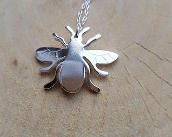 Honeybee Necklace Pendant Bee Jewellery Bee Honey bee Insect Necklace