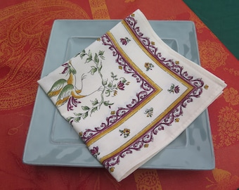 Cotton napkins. Fabric from Provence, France. Cloth napkins .Set of 1-2-4-6-8-10 Fabric from Provence, France.