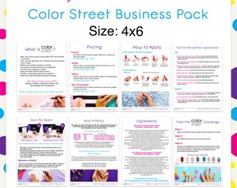 Color Street Business Pack 4x6 --Instant Digital Download