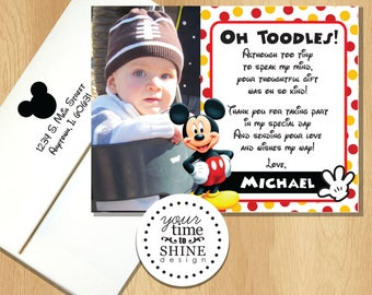 Mickey Mouse - Thank You Flat Cards