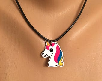 Unicorn Necklace, Unicorn Face Jewelry Jewellery, Unicorn Lovers, Unicorn Gift, Kids Necklace, Kids Jewelry, Christmas Gifts for Girls, Best