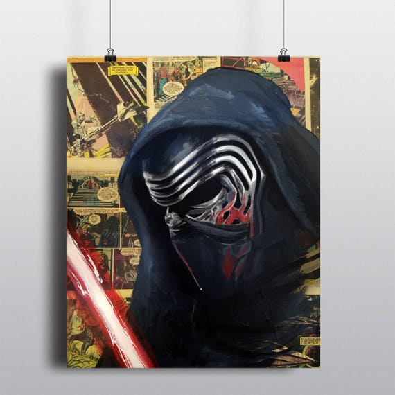 Kylo Ren Star Wars Acrylic Painting SIGNED Fine Art Print
