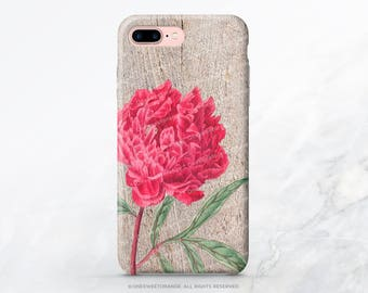 iPhone 7 Case Wood Peony iPhone 7 Plus iPhone 6s Case iPhone SE Case iPhone 6 Case iPhone 5S Case Galaxy S8 Case Galaxy S8 Plus Case V2