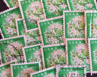 White Flower Craft Postage Stamps Lot of 20 Antique Vintage