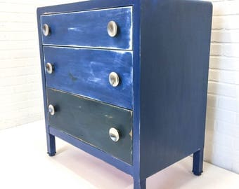 RESERVED   Payment 3   Metal Mid Century Medical Cabinet Inland Bed Co  Steel 3 Drawer
