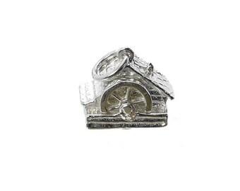 Sterling Silver Movable Welsh Watermill Charm For Bracelets