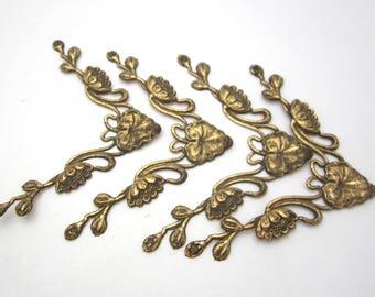 art nouveau brass floral decoration picture frames furniture making crafts