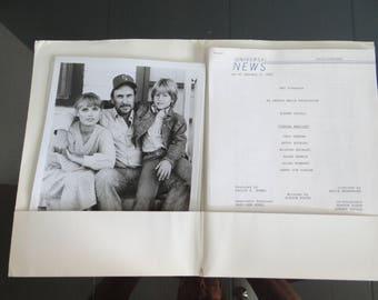 "Original Universal Studios Movie Press Information Kit 1983 ""Tender Mercies"" - Robert Duvall,  Tess Harper,  Betty Buckley"